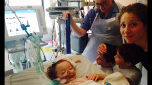 Margot was in the Paediatric Intensive Care Unit for 10 days & was in an induced coma for just over a week, until her condition stabilised