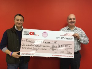 Bridge Walk 2014 also raised £37,068.69 for Delete Blood Cancer UK, which is included in this cheque - these funds have gone towards paying for the cost of new registrations (each registration costs £40)