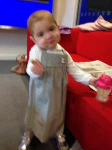 ... and a costume change was required. The NG tube came up when Margot was sick...
