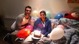 Pamela celebrating 100 days post transplant