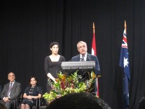 21.4.12 The Lebanese President's speech in Melbourne ended with a special appeal to the Lebanese community in Melbourne to donate immediately to the Bone Marrow Register in Australia.