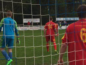 Wednesbury Athletic defend a corner