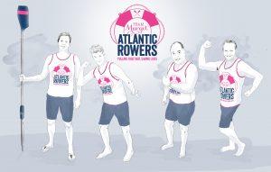 Team Margot Atlantic Rowers (L to R): Hamish Miller, Dr Tom Konig, Guy Dresser, Martin Beaumont