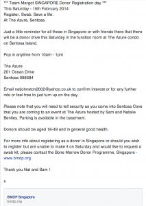 15.02.14 Singapore Donor Registration Day