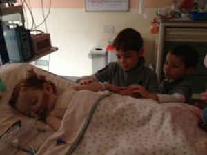 Margot with boys in PICU