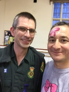 with Steve, a paramedic who was held up with a job and so arrived 45 minutes after we had started packing up - just in time to register. Fabulous