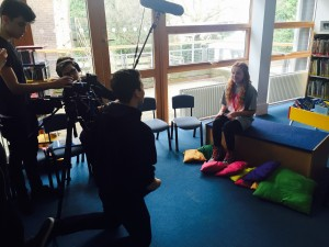 Team Margot Ambassador Harley Bird gives an interview about why she is supporting. Harley is always so supportive and was happy to turn her hand to helping out in whatever way possible yesterday, in addition to reading stories to children in the library
