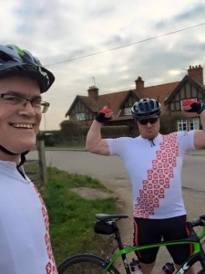 Leslie and Stephen out on a training ride last week...