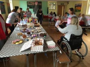 Funds were raised via a cake sale...