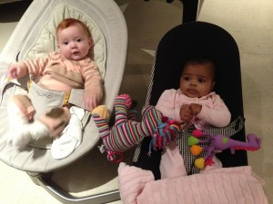 Margot with cousin Louna