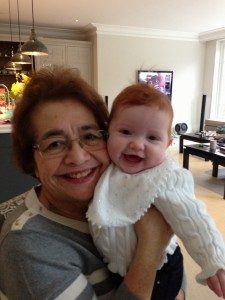 Margot with her Nannie (my mother)