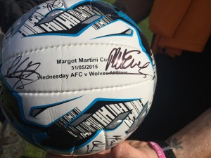 Commerative football, signed by the players