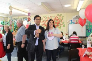 Margot's auntie Charlotte and ITV Central News presenter, Rajiv Popat following Rajiv's registration