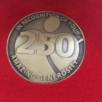 Commemorative coin for 250 platelet donations
