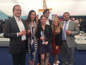 Chesca Knowles (centre) with the Live Your Life award, surrounded by her family (l to r): Jan, Zhen, Luke, Sophie & Keith