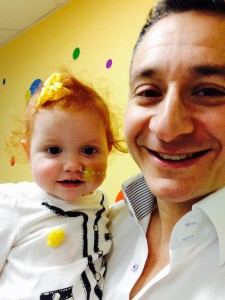 In the 14 months after diagnosis, Margot blossomed & grew from infant to toddler, thanks to the anonymous blood & platelet donors and a young man in Germany who donated his bone marrow