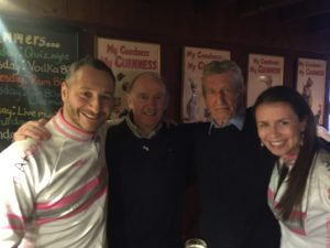 Philippa & I with Jimmy Tyrell & Alan Blair, the gentlemen who started the Celtic Challenge