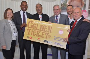 (L to R): Nadia, Adam Afriyie MP; Daley Thompson; Mark Tami MP; Yaser