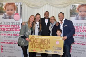 Rufus & I with Daley Thompson and Mel, Sophie and Georgie (aka the Give Our Dad a Bone team)