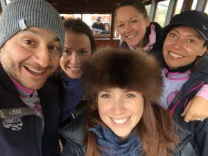 (L to r): me, Philippa, Vicki, Emma & Mel B