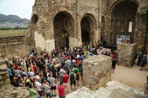 Transpyr 2016 pre-race briefing. The event was sold out, with 400 people taking part this year