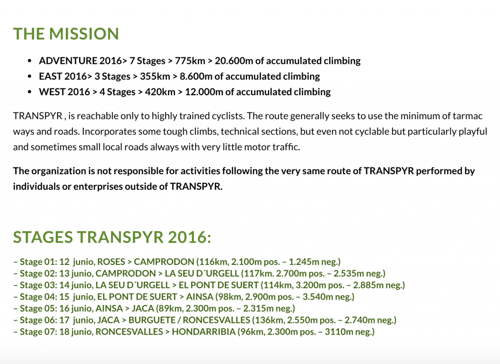 Transpyr Mission