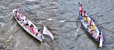 Snaps of our two boats from last year's Great River Race
