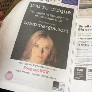 Newspaper print & online advertising campaign