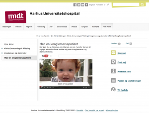 "The Danish Stem Cell Registry at Skejby Hospital in Aarhus named 7 October, ""Margot's Day""."