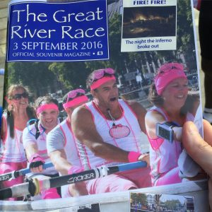 Team Margot Rowers were 'the face' of the Great River Race in September