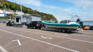 """Margot's Grandad Jeff & AJ """"the best builder in London"""" at Fishguards on their way over with the boats"""