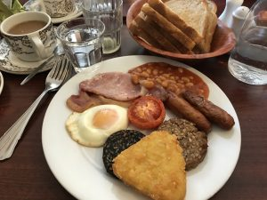 ... followed by an Irish breakfast, to set us up right on the morning of the race
