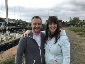 with the wonderful Claire Alexander, who was on the winning team with Martin & Mike at last year's time trial (now expecting, so not rowing!)