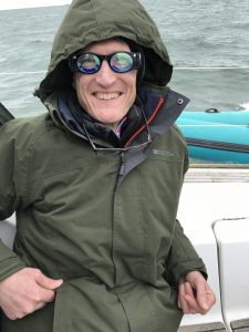 Ian, wearing the French Navy glasses which are supposed to alleviate sea sickness (they didn't work)