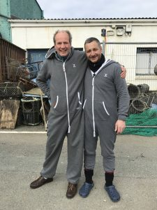 Dr Phil & I rocking our onesies