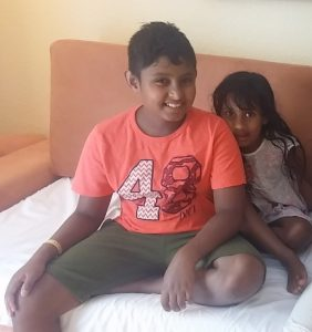 Kenu and his little sister, Ashi