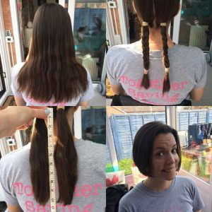 Claire Corrigan's sponsored hair cut for Team Margot
