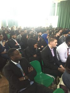 April 2017 visit to Mayfield School to present to the 6th form