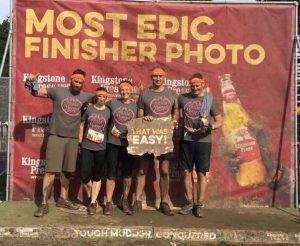 Well done to Susannah Quinlan and friends for completing the Tough Mudder on behalf of Team Margot in September