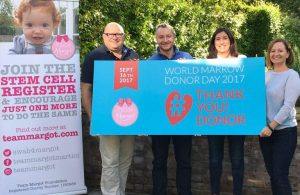 Team Margot Foundation Trustees - supporting World Marrow Donor Day, which fell on 16 September