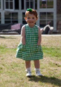 When Margot discovered that her dress had pockets - July 2014. Photo: Sophocles