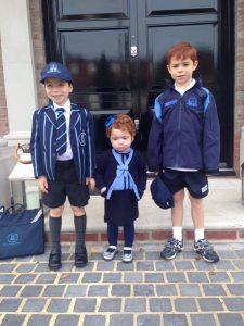 Margot was gutted that she couldn't go to school with her brothers at the start of term and all attempts at colour co-ordination failed to impress her…