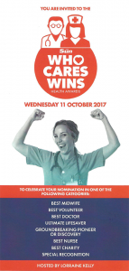 Team Margot Foundation was nominated as 'Best Charity' in The Sun's inaugural WHO CARES WINS Health Awards ! We are proud to have collected a highly commended award in this category