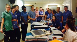 with the fantastic team at Elephant Ward in Great Ormond Street Hospital, January 2014