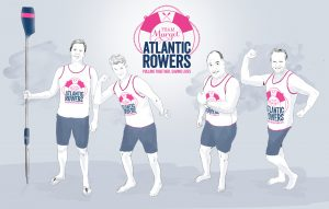 Team Margot Atlantic Rowers (L to R): Hamish Miller, Dr Tom Konig, Guy Dresser, Martin Beaumont
