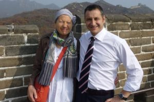 with Franca on the Great Wall of China in 2011